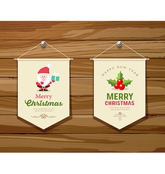 Merry Christmas flag concepts design collections vector image vector image