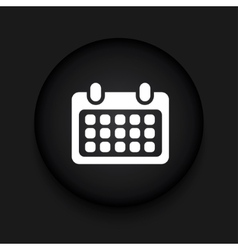 modern calendar black circle icon vector image