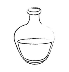 Monochrome blurred silhouette of bottle with oil vector