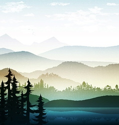 Nature and landscape Summer landscape of nature vector image