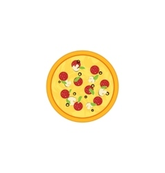 Pizza isolated on white vector image vector image