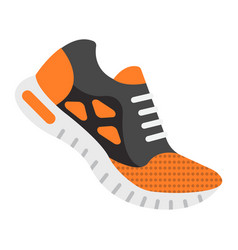 running shoes flat icon fitness and sport vector image