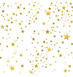 seamless pattern of decorative gold stars vector image