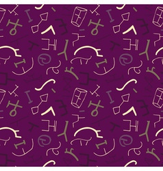 seamless pattern with ancient elements on the vector image vector image