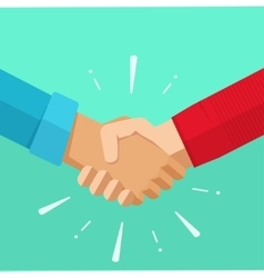 Shaking hands agreement deal vector