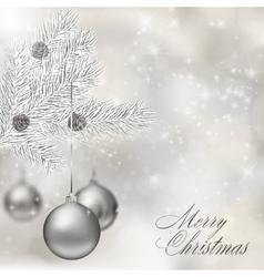 Silver Christmas balls vector image vector image