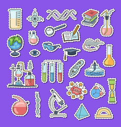 sketched science or chemistry elements vector image vector image