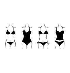 Swimsuit set vector image