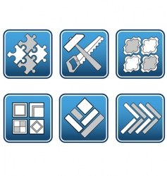Mosaic materials tools vector