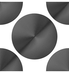 Design seamless monochrome circle background vector