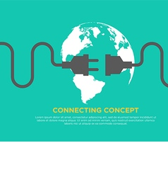 Connection concept flat design global connecting vector