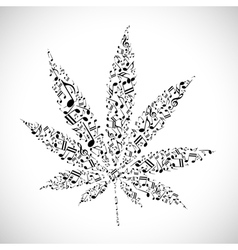 Musical cannabis vector image