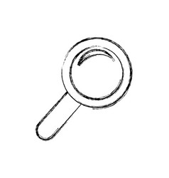 Magnifying glass tool vector