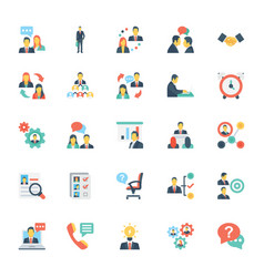 Human resources and management icons 6 vector