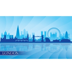 London city skyline silhouette background vector
