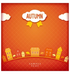 Autumn city vector
