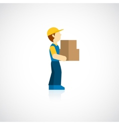 Delivery Man Icon Flat vector image