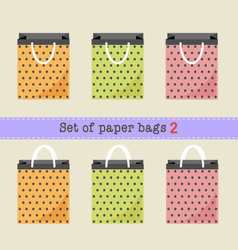 Set of paper bags vector
