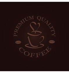Minimal quality coffee label stamp design element vector