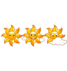 cute suns vector image