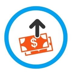 Spend money rounded icon vector