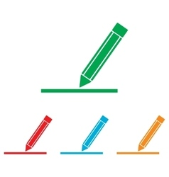 Pencil sign colorfull set vector