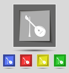 Balalaika icon sign on original five colored vector