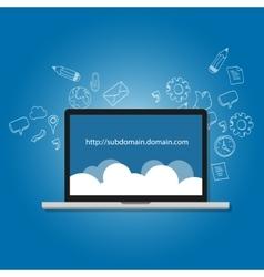 Domain subdomain name com internet vector