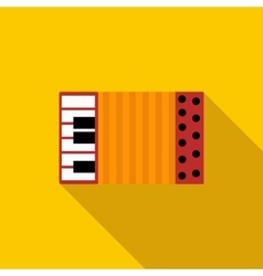 Accordion icon in flat style vector