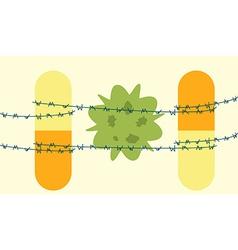 antibiotics bacteria superbug concept vector image