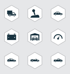 Auto icons set collection of chronometer vector