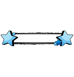 Banner design with blue stars vector image