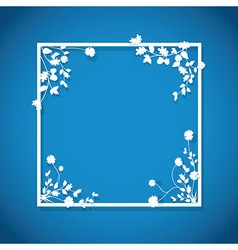 blue floral box vector image vector image