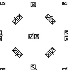 Checkmark to accept and refusal pattern seamless vector