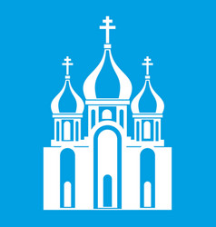 church building icon white vector image