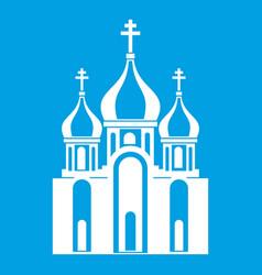 Church building icon white vector