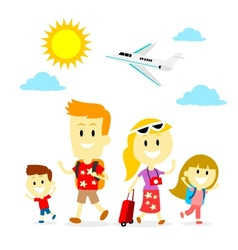 Family Trip vector image vector image