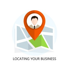 Flat Colored Location Icon Locating Your Business vector image