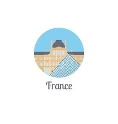 France landmark isolated round icon vector image