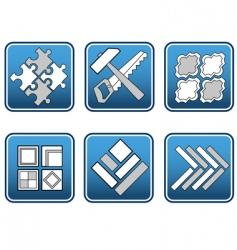 mosaic materials tools vector image vector image