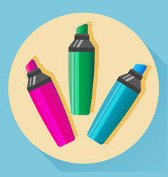 multicolored highlighters vector image vector image