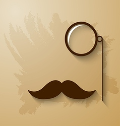 Mustach and monocle vector