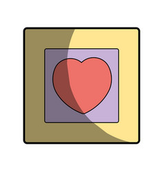 Picture image with frame design element vector