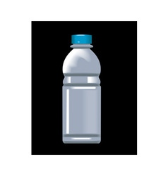 plastic water bottle container vector image vector image