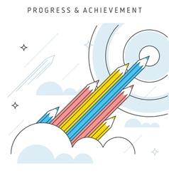 Progress achievement vector