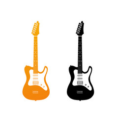 set of icons with electric guitars vector image vector image