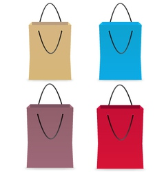 Set of paper colors bags vector image vector image