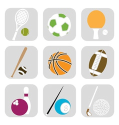 sport ball icons vector image vector image
