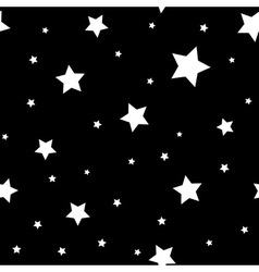 Star seamless pattern Black white retro background vector image