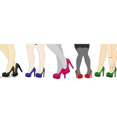 The nice legs of women vector image vector image